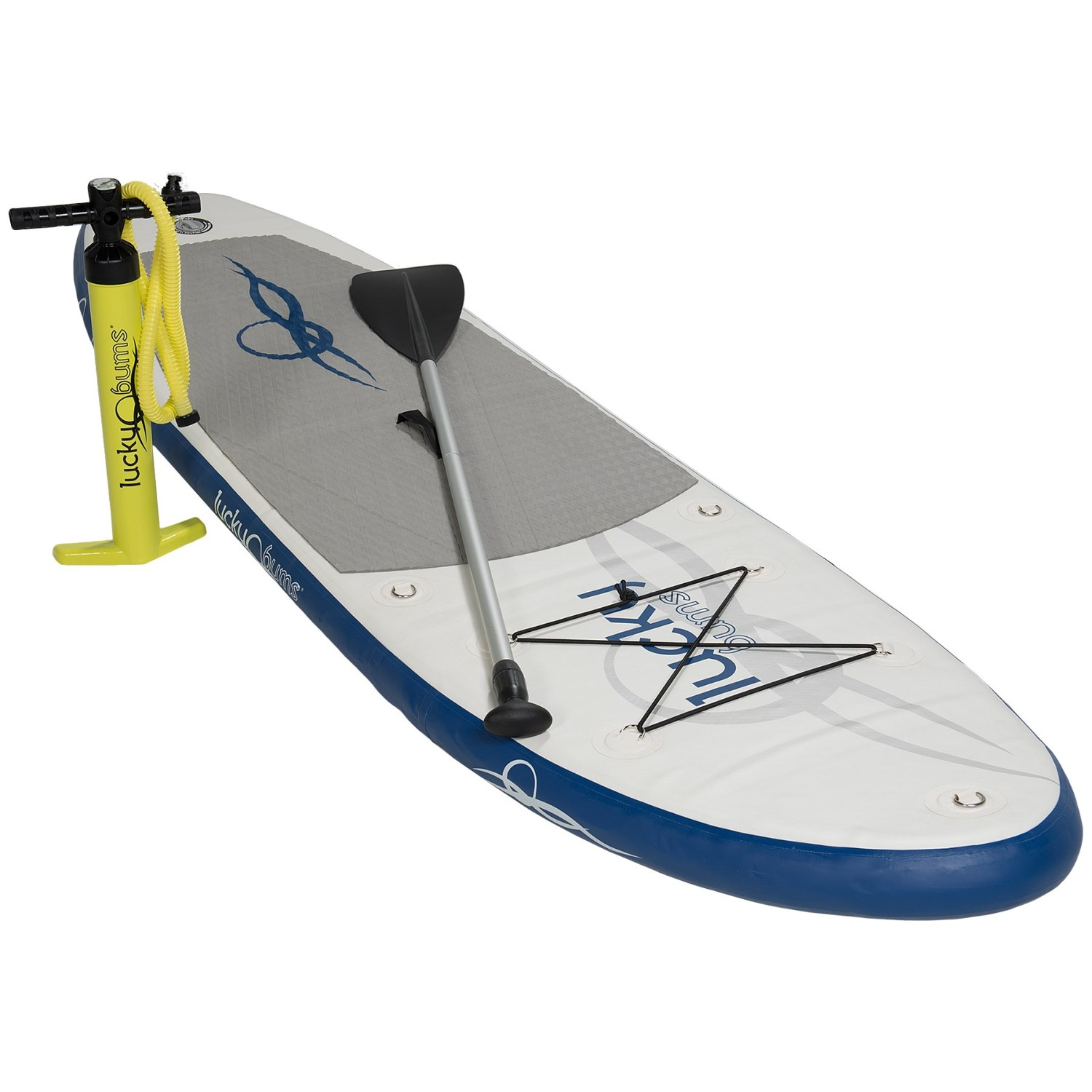 Lucky Bums7 Inflatable Stand-Up Paddle Board Kit - 7'
